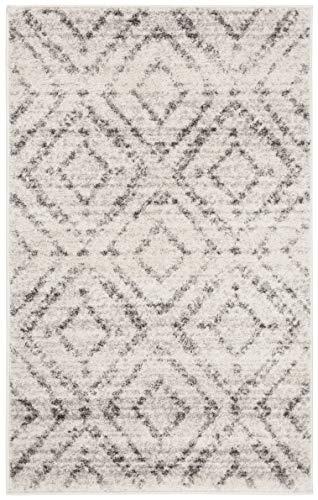 Safavieh Adirondack Collection ADR131C Modern Geometric Diamond Distressed Area Rug 4 X 6 Light GreyGrey 0 0