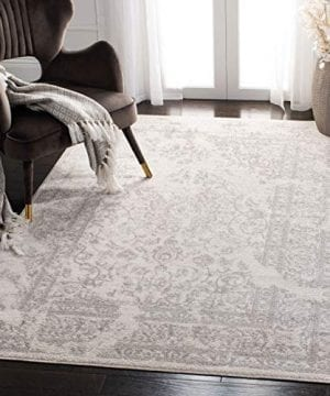 Safavieh Adirondack Collection Oriental Vintage Distressed Area Rug 3 X 5 IvorySilver 0 300x360