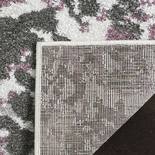 Safavieh Adirondack CollectionADR115L Ivory And Purple Contemporary Floral Area Rug 6 X 9 0 1