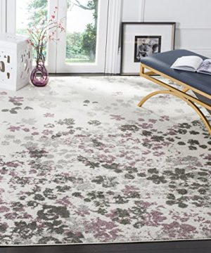 Safavieh Adirondack CollectionADR115L Ivory And Purple Contemporary Floral Area Rug 6 X 9 0 300x360