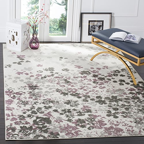 Safavieh Adirondack CollectionADR115L Ivory And Purple Contemporary Floral Area Rug 6 X 9 0
