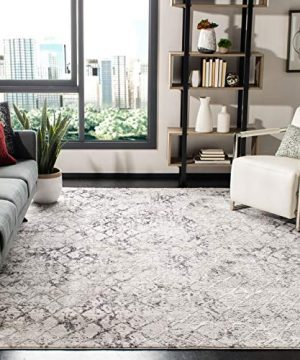 Safavieh Amelia Collection ALA783F Modern Contemporary Abstract Distressed Area Rug 8 X 10 GreyLight Grey 0 300x360