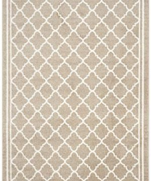 Safavieh Amherst Collection AMT422S Moroccan Trellis Area Rug 6 X 9 WheatBeige 0 300x360