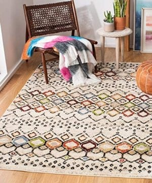 Safavieh Amsterdam Collection AMS108K Southwestern Bohemian Ivory And Multi Area Rug 3 X 5 0 300x360