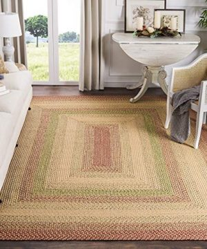 Safavieh Braided Collection BRD303A Hand Woven Reversible Area Rug 8 X 10 RustMulti 0 300x360