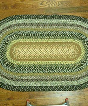 Safavieh Braided Collection BRD308A Hand Woven Reversible Area Rug 5 X 8 Oval Multi 0 0 300x360