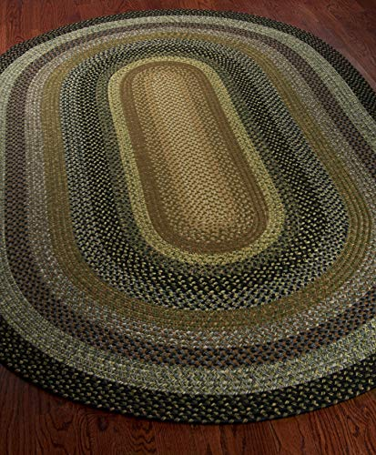 Safavieh Braided Collection BRD308A Hand Woven Reversible Area Rug 5 X 8 Oval Multi 0 1