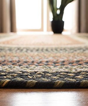 Safavieh Braided Collection BRD308A Hand Woven Reversible Area Rug 5 X 8 Oval Multi 0 3 300x360