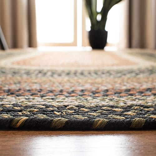 Safavieh Braided Collection BRD308A Hand Woven Reversible Area Rug 5 X 8 Oval Multi 0 3