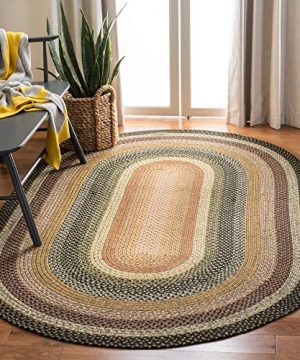 Safavieh Braided Collection BRD308A Hand Woven Reversible Area Rug 5 X 8 Oval Multi 0 300x360