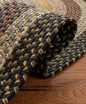 Safavieh Braided Collection BRD308A Hand Woven Reversible Area Rug 5 X 8 Oval Multi 0 4 300x360