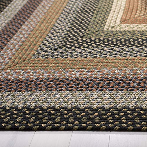 Safavieh Braided Collection BRD308A Hand Woven Reversible Area Rug 8 X 10 Multi 0 1
