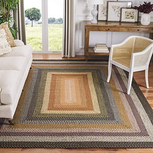 Safavieh Braided Collection BRD308A Hand Woven Reversible Area Rug 8 X 10 Multi 0
