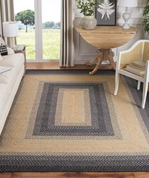 Safavieh Braided Collection BRD311A Hand Woven Reversible Area Rug 6 X 9 BlackGrey 0 300x360