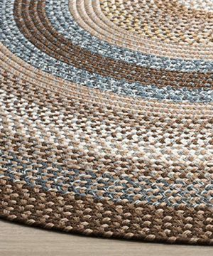 Safavieh Braided Collection BRD313A Hand Woven Reversible Area Rug 8 X 10 Oval BrownMulti 0 0 300x360