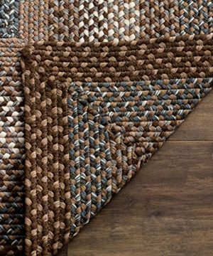 Safavieh Braided Collection BRD313A Hand Woven Reversible Area Rug 8 X 10 Oval BrownMulti 0 1 300x360