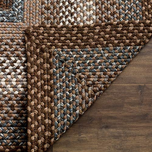 Safavieh Braided Collection BRD313A Hand Woven Reversible Area Rug 8 X 10 Oval BrownMulti 0 1
