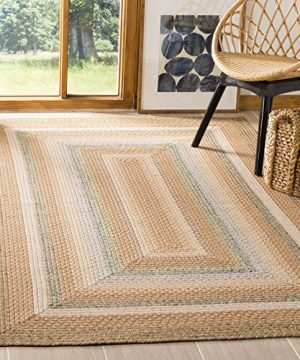 Safavieh Braided Collection BRD314A Hand Woven Reversible Area Rug 4 X 6 TanMulti 0 300x360