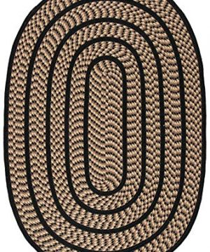 Safavieh Braided Collection BRD401G Hand Woven Reversible Area Rug 3 X 5 Oval BeigeBlack 0 0 300x360