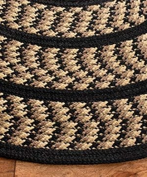 Safavieh Braided Collection BRD401G Hand Woven Reversible Area Rug 3 X 5 Oval BeigeBlack 0 1 300x360