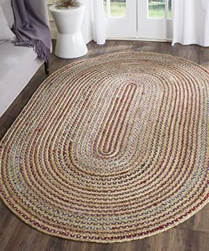 Safavieh Cape Cod Collection CAP251A Hand Woven Natural And Multicolored Jute Oval Area Rug 4 X 6 0 300x360