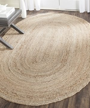Safavieh Cape Cod Collection CAP252A Hand Woven Jute Area Rug 3 X 5 Oval Tural 0 300x360