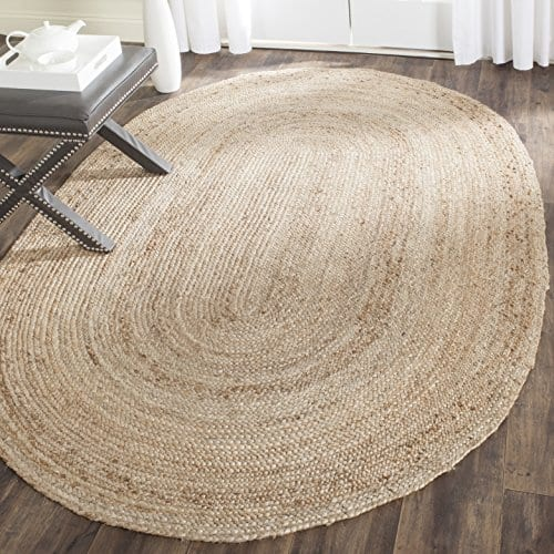 Safavieh Cape Cod Collection CAP252A Hand Woven Jute Area Rug 3 X 5 Oval Tural 0