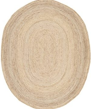 Safavieh Cape Cod Collection CAP252A Hand Woven Jute Area Rug 8 X 10 Oval Natural 0 300x360