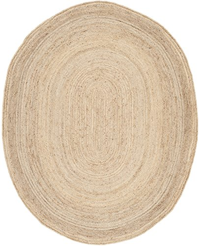 Safavieh Cape Cod Collection CAP252A Hand Woven Jute Area Rug 8 X 10 Oval Natural 0