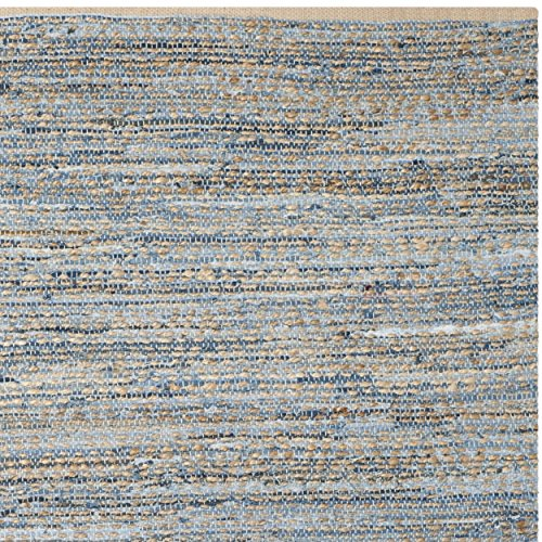 Safavieh Cape Cod Collection CAP351A Hand Woven Flatweave Geometric Diamond Natural And Blue Jute Area Rug 8 X 10 0 2