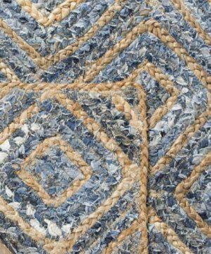 Safavieh Cape Cod Collection CAP354A Hand Woven Flatweave Diamond Geometric Natural And Blue Jute Area Rug 8 X 10 0 3 300x360