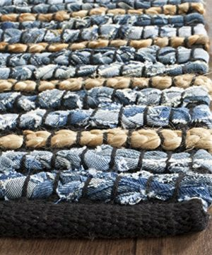 Safavieh Cape Cod Collection CAP363A Hand Woven Blue And Natural Jute And Cotton Area Rug 6 X 9 0 1 300x360