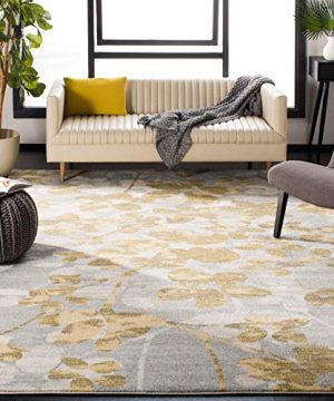 Safavieh Evoke Collection EVK236P Vintage Floral Grey And Gold Area Rug 8 X 10 0 300x360