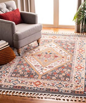 Safavieh Farmhouse Collection FMH812H Charcoal And Ivory 8 X 10 Area Rug 0 300x360