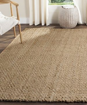 Safavieh Fiber Collection NF181A Hand Woven Jute Area Rug 4 X 6 NaturalNatural 0 300x360