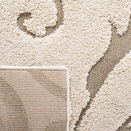 Safavieh Florida Shag Collection SG455 1113 Scrolling Vine Graceful Swirl Area Rug 5 3 X 7 6 CreamBeige 0 4