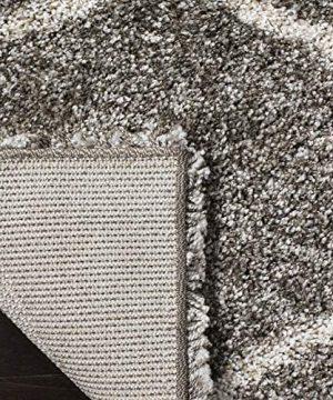 Safavieh Hudson Shag Collection SGH280B Moroccan Ogee Plush Area Rug 4 X 6 GreyIvory 0 2 300x360