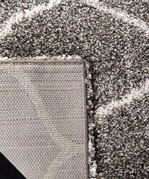 Safavieh Hudson Shag Collection SGH280B Moroccan Ogee Plush Area Rug 4 X 6 GreyIvory 0 4 300x360