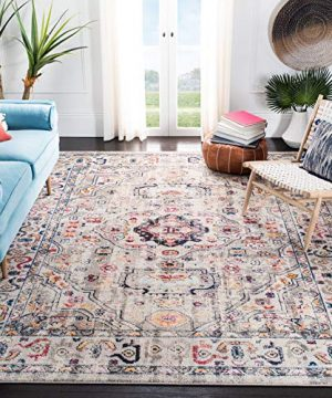 Safavieh Madison Collection MAD468F Vintage Medallion Distressed Area Rug 8 X 10 GreyBlue 0 300x360