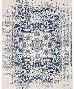 Safavieh Madison Collection MAD603D Vintage Snowflake Medallion Distressed Area Rug 4 X 6 CreamNavy 0 0 300x360