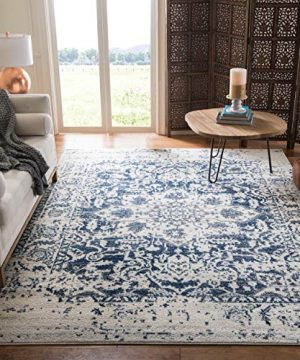 Safavieh Madison Collection MAD603D Vintage Snowflake Medallion Distressed Area Rug 4 X 6 CreamNavy 0 300x360