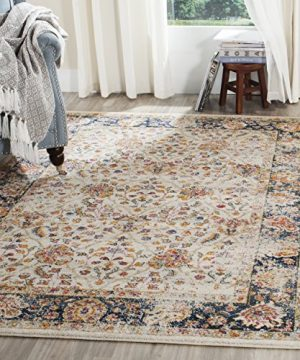 Safavieh Madison Collection MAD609D Cream And Navy Bohemian Chic Distressed Oriental Area Rug 51 X 76 0 300x360