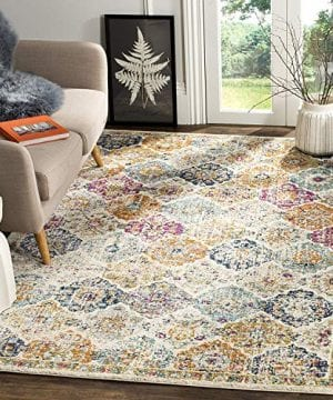 Safavieh Madison Collection MAD611B Bohemian Chic Vintage Distressed Area Rug 3 X 5 CreamMulti 0 300x360