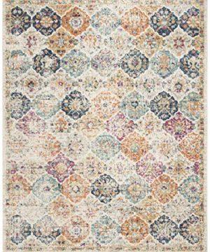 Safavieh Madison Collection MAD611B Bohemian Chic Vintage Distressed Area Rug 8 X 10 CreamMulti 0 300x360