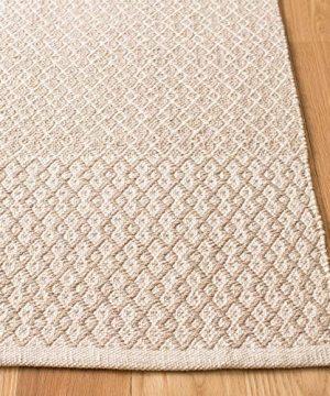 Safavieh Montauk Collection MTK339A Handmade Flatweave Ivory And Grey Cotton Area Rug 4 X 6 0 300x360