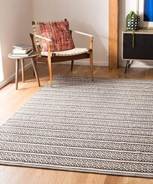 Safavieh Montauk Collection MTK341D Handmade Flatweave Ivory And Black Cotton Area Rug 3 X 5 0 300x360