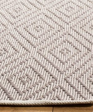 Safavieh Montauk Collection MTK811A Handmade Flatweave Grey And Ivory Cotton Area Rug 6 X 9 0 0 300x360