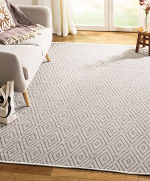 Safavieh Montauk Collection MTK811A Handmade Flatweave Grey And Ivory Cotton Area Rug 6 X 9 0 300x360