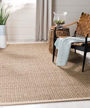 Safavieh Natural Fiber Collection NF114A Basketweave Natural And Beige Summer Seagrass Area Rug 3 X 5 0 300x360