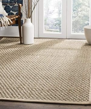 Safavieh Natural Fiber Collection NF114A Basketweave Natural And Beige Summer Seagrass Area Rug 4 X 6 0 300x360